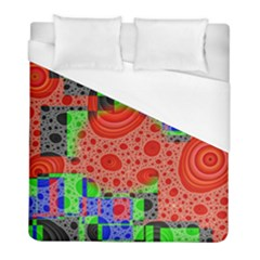 Background With Fractal Digital Cubist Drawing Duvet Cover (full/ Double Size)
