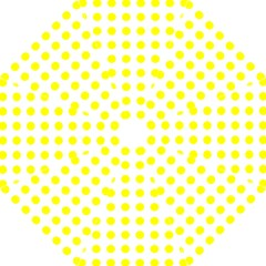 Polka Dot Yellow White Folding Umbrellas by Mariart