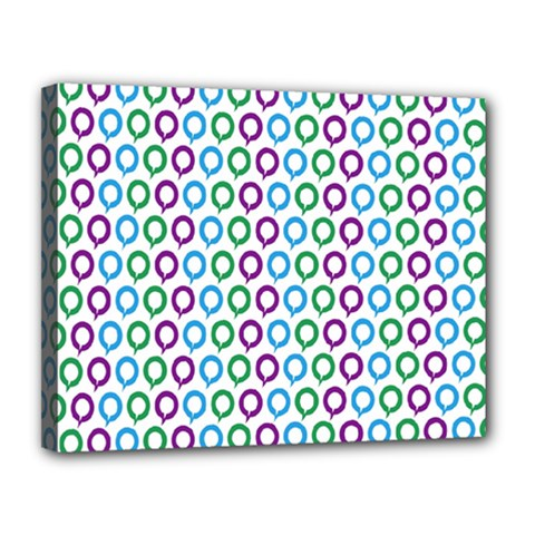 Polka Dot Like Circle Purple Blue Green Canvas 14  X 11  by Mariart