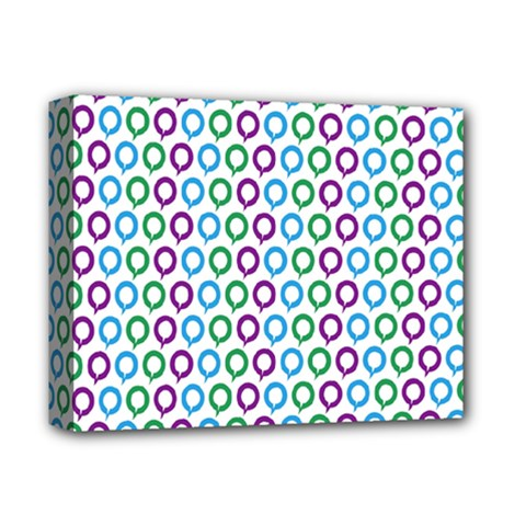 Polka Dot Like Circle Purple Blue Green Deluxe Canvas 14  X 11  by Mariart