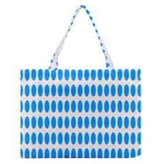 Polka Dots Blue White Medium Zipper Tote Bag by Mariart