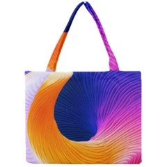 Wave Waves Chefron Color Blue Pink Orange White Red Purple Mini Tote Bag by Mariart