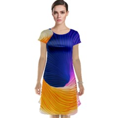 Wave Waves Chefron Color Blue Pink Orange White Red Purple Cap Sleeve Nightdress