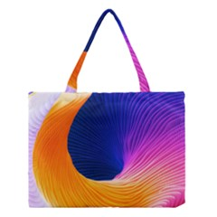Wave Waves Chefron Color Blue Pink Orange White Red Purple Medium Tote Bag by Mariart