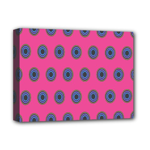 Polka Dot Circle Pink Purple Green Deluxe Canvas 16  X 12   by Mariart