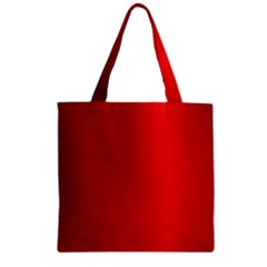 Red Gradient Fractal Backgroun Zipper Grocery Tote Bag by Simbadda