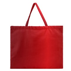 Red Gradient Fractal Backgroun Zipper Large Tote Bag by Simbadda