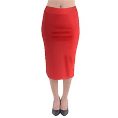 Red Gradient Fractal Backgroun Midi Pencil Skirt by Simbadda