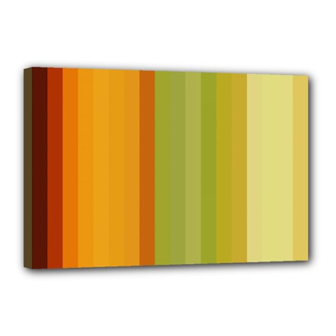 Colorful Citrus Colors Striped Background Wallpaper Canvas 18  X 12  by Simbadda