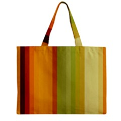 Colorful Citrus Colors Striped Background Wallpaper Zipper Mini Tote Bag by Simbadda