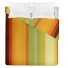 Colorful Citrus Colors Striped Background Wallpaper Duvet Cover Double Side (queen Size) by Simbadda