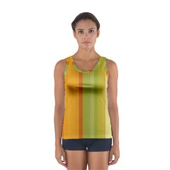 Colorful Citrus Colors Striped Background Wallpaper Women s Sport Tank Top