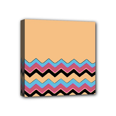 Chevrons Patterns Colorful Stripes Background Art Digital Mini Canvas 4  X 4  by Simbadda