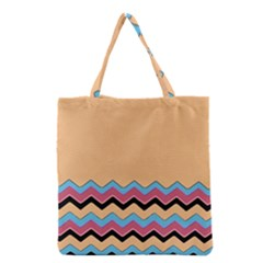 Chevrons Patterns Colorful Stripes Background Art Digital Grocery Tote Bag by Simbadda