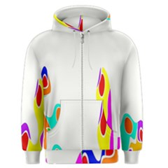Simple Abstract With Copyspace Men s Zipper Hoodie by Simbadda