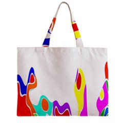 Simple Abstract With Copyspace Zipper Mini Tote Bag