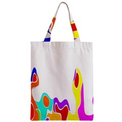 Simple Abstract With Copyspace Zipper Classic Tote Bag by Simbadda