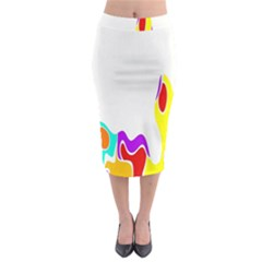 Simple Abstract With Copyspace Midi Pencil Skirt by Simbadda