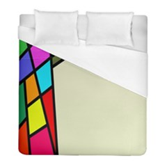Digitally Created Abstract Page Border With Copyspace Duvet Cover (full/ Double Size) by Simbadda