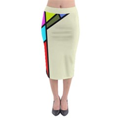 Digitally Created Abstract Page Border With Copyspace Midi Pencil Skirt