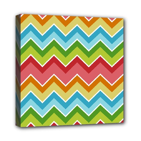 Colorful Background Of Chevrons Zigzag Pattern Mini Canvas 8  X 8  by Simbadda