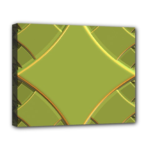 Fractal Green Diamonds Background Deluxe Canvas 20  X 16   by Simbadda
