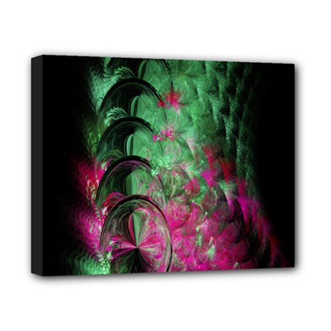 Pink And Green Shapes Make A Pretty Fractal Image Canvas 10  X 8  by Simbadda
