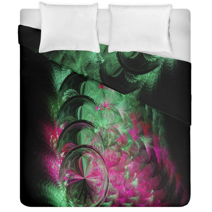 Pink And Green Shapes Make A Pretty Fractal Image Duvet Cover Double Side (California King Size)