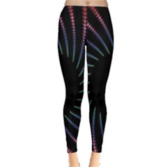 Fractal Black Hole Computer Digital Graphic Leggings  by Simbadda