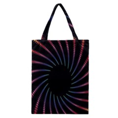 Fractal Black Hole Computer Digital Graphic Classic Tote Bag by Simbadda