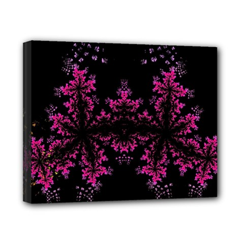 Violet Fractal On Black Background In 3d Glass Frame Canvas 10  X 8  by Simbadda