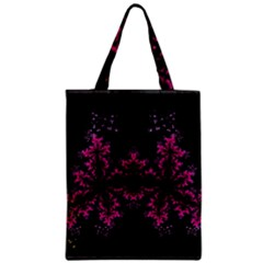 Violet Fractal On Black Background In 3d Glass Frame Classic Tote Bag by Simbadda