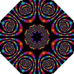 Fractal Drawing Of Phoenix Spirals Hook Handle Umbrellas (small) by Simbadda