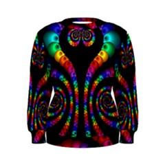 Fractal Drawing Of Phoenix Spirals Women s Sweatshirt