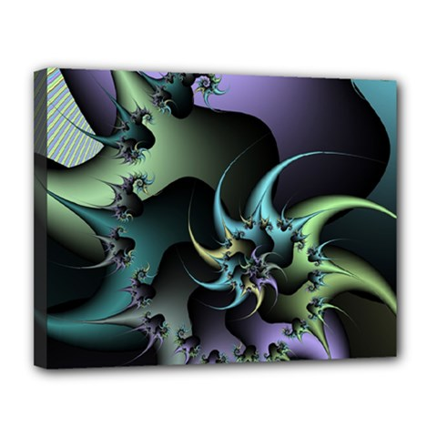 Fractal Image With Sharp Wheels Canvas 14  X 11  by Simbadda
