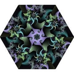 Fractal Image With Sharp Wheels Mini Folding Umbrellas by Simbadda