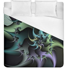 Fractal Image With Sharp Wheels Duvet Cover (king Size) by Simbadda