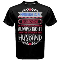 Black & White Marriage Relationship Husband Men s Cotton Tee by ThinkOutisdeTheBox