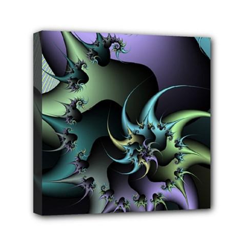 Fractal Image With Sharp Wheels Mini Canvas 6  X 6  by Simbadda