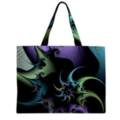 Fractal Image With Sharp Wheels Zipper Mini Tote Bag by Simbadda