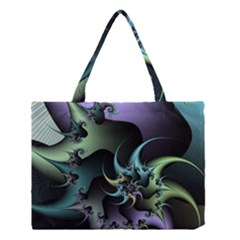 Fractal Image With Sharp Wheels Medium Tote Bag