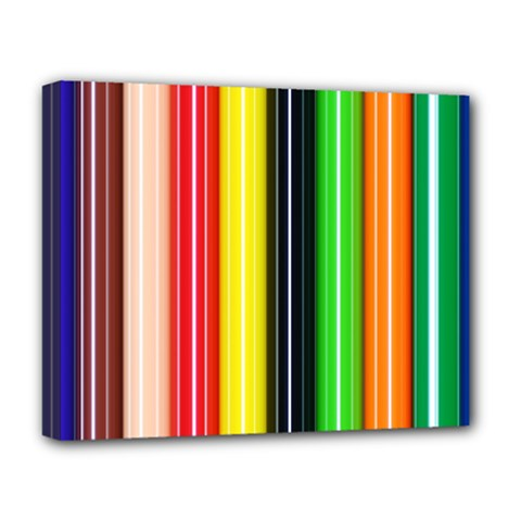 Stripes Colorful Striped Background Wallpaper Pattern Deluxe Canvas 20  X 16   by Simbadda