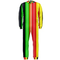Stripes Colorful Striped Background Wallpaper Pattern Onepiece Jumpsuit (men)  by Simbadda