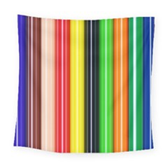 Stripes Colorful Striped Background Wallpaper Pattern Square Tapestry (large) by Simbadda