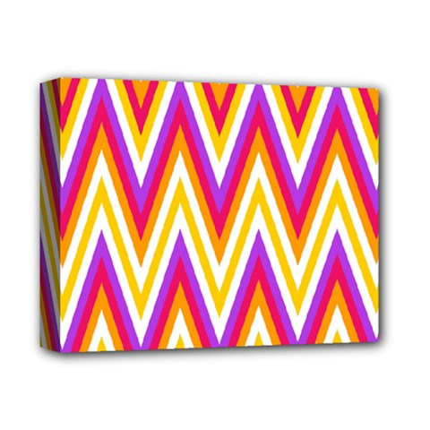 Colorful Chevrons Zigzag Pattern Seamless Deluxe Canvas 14  X 11  by Simbadda