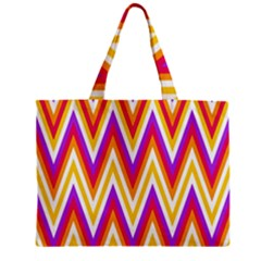 Colorful Chevrons Zigzag Pattern Seamless Zipper Mini Tote Bag by Simbadda