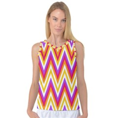 Colorful Chevrons Zigzag Pattern Seamless Women s Basketball Tank Top