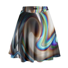 Twirl Liquid Crystal High Waist Skirt by Simbadda