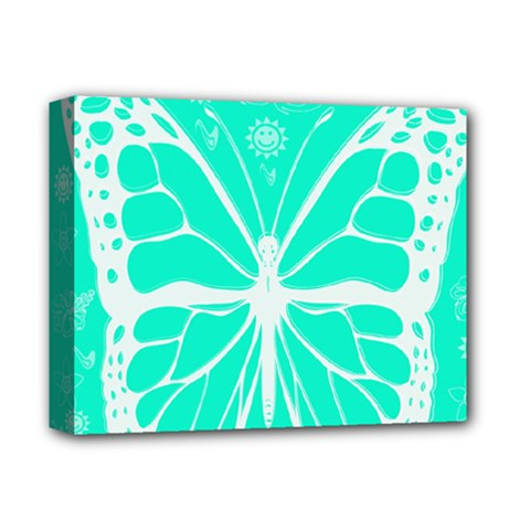 Butterfly Cut Out Flowers Deluxe Canvas 14  X 11  by Simbadda