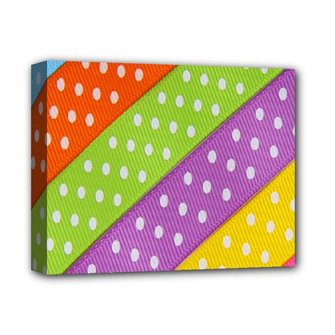 Colorful Easter Ribbon Background Deluxe Canvas 14  X 11  by Simbadda